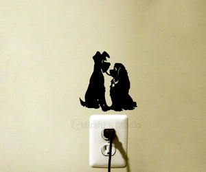 decal, lady and the tramp, and sticker image