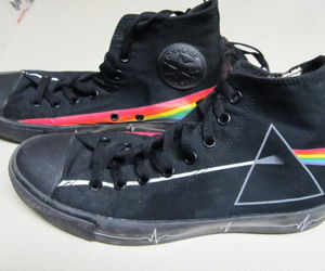 all star, converse, and dark side of the moon image