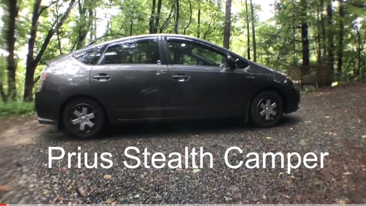 article, prius camper, and living in a car image