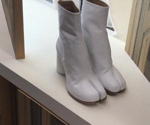 boots, cream, and fashion image