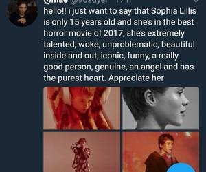 it movie, beverly marsh, and sophia lillis image