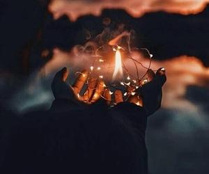 light, christmas, and fire image
