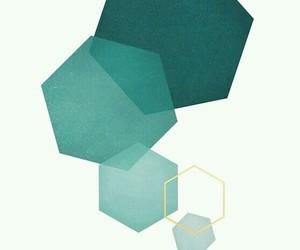 hexagon, art, and geometric image