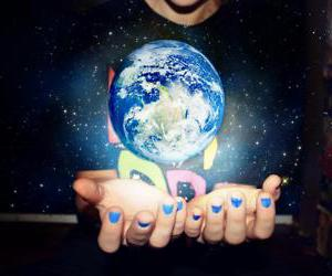 earth, girl, and hands image