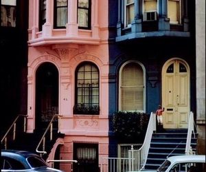 pink, vintage, and house image