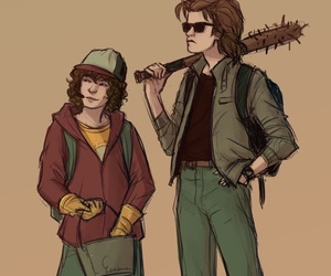 dustin, stranger things, and steve image