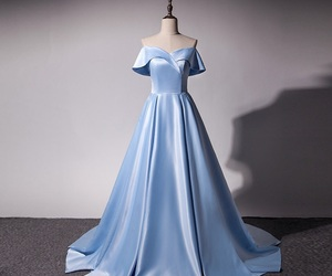 elegant, evening gown, and off the shoulder image