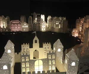 art, castle, and lights image