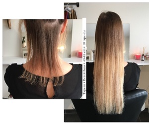 hairextensions, tape in, and beautyhuys image