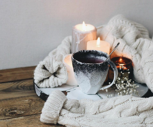 candles, autumn, and coffee image