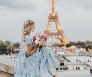 paris, flowers, and dress image