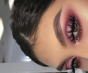 eye makeup, girls, and eyes image