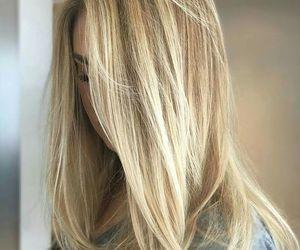 blonde, wavy, and shoulder length image