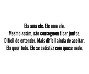 sentimentos, frases em português, and impossivél image
