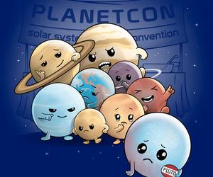 ilustracion, kawaii, and planetas image