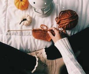 aesthetic, knitting, and theme image