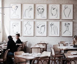 art, cafe, and interior image