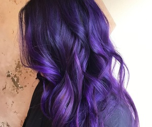 beauty, hairstyles, and purple image
