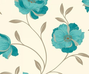 background, brown, and floral image