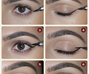 makeup, eyeliner, and tutorial image