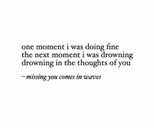 drowning, heart, and thoughts image