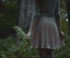 forest, girl, and green image