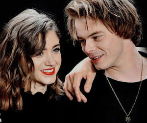 stranger things, charlie heaton, and natalia dyer image