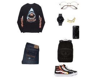 adidas, vans, and abercrombie&fitch image