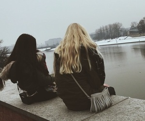 fashion, best friends, and black image
