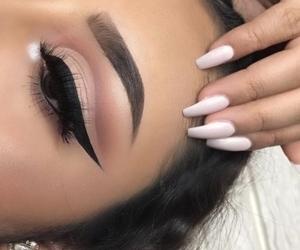 makeup, eye makeup, and cut crease image