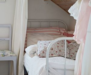 home decor, attic bedroom, and vintage style image