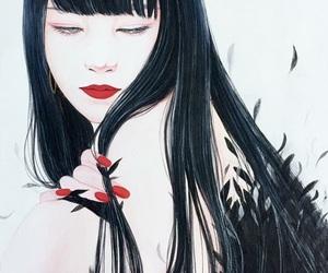art, drawing, and beniko choji image