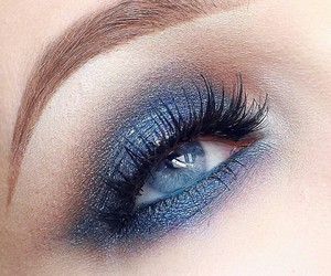 blue, lashes, and eye makeup image
