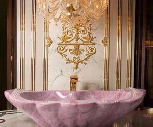luxury, pink, and interior image
