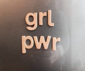 girl power, feminist, and power image