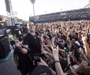 concert, rapper, and crowd image