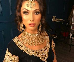beautiful, beauty, and bindi image