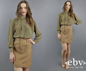 etsy, secretary skirt, and high waist skirt image
