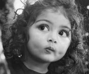 black and white and little girl image