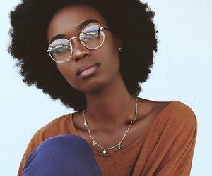 black women, kinky hair, and brown skin girls image