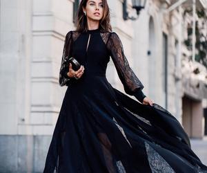 black fashion dress image