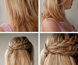 hair, hairstyles for school, and hair style image