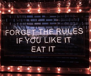 food and neon sign image