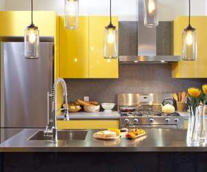 kitchen, home, and yellow image