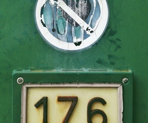 green, numbers, and typography image