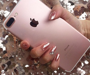 iphone, nails, and pink image