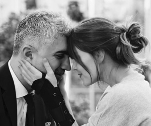 beauty, black and white, and couple image