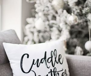 winter, christmas, and cuddle image