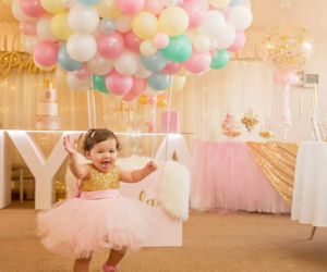 baby, balloon, and bride image