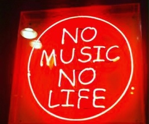 music, red, and neon image